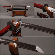 Noble Clay Tempered Carbon Steel Wakizashi Samurai Sword - BladesPro UK