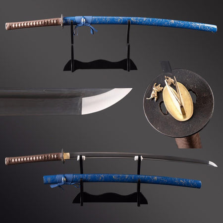 Nuo Folded Steel Katana Samurai Sword - BladesPro UK