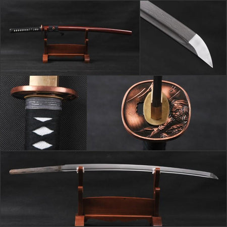 Qiuyue Folded Steel Katana Samurai Sword - BladesPro UK