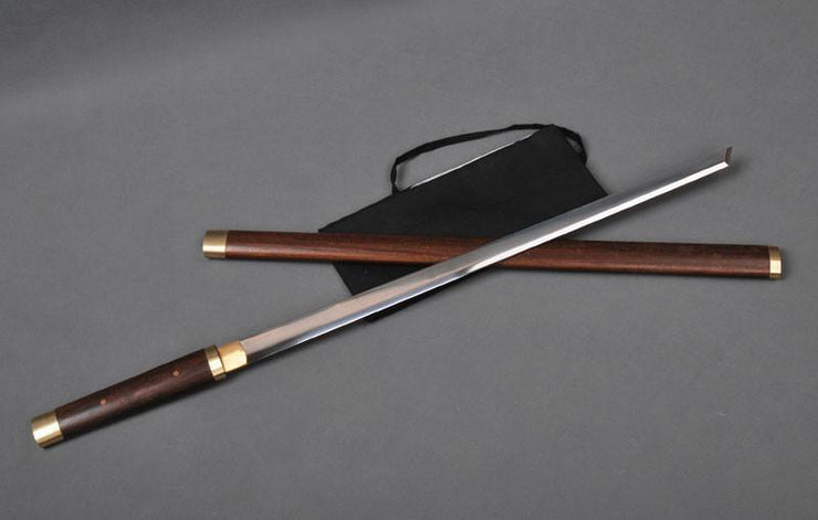 Rosewood Authentic Carbon Steel Kirihaddukuri Ninja Sword