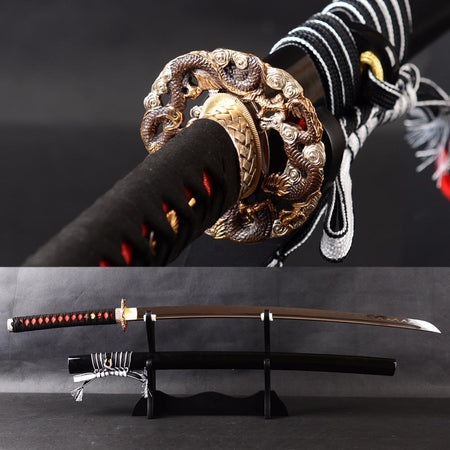 Saito Clay Tempered Katana Samurai Sword