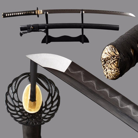 Sakai Clay Tempered Folded Steel Katana Samurai Sword - BladesPro UK