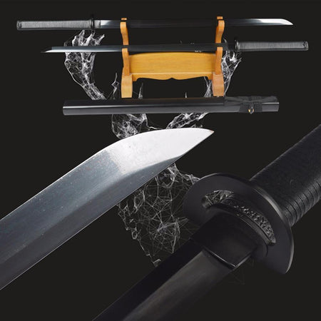 Twin Edge of Night Carbon Steel Ninja Swords - BladesPro UK