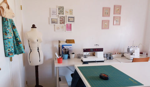 O meu atelier / Tour of my sewing room