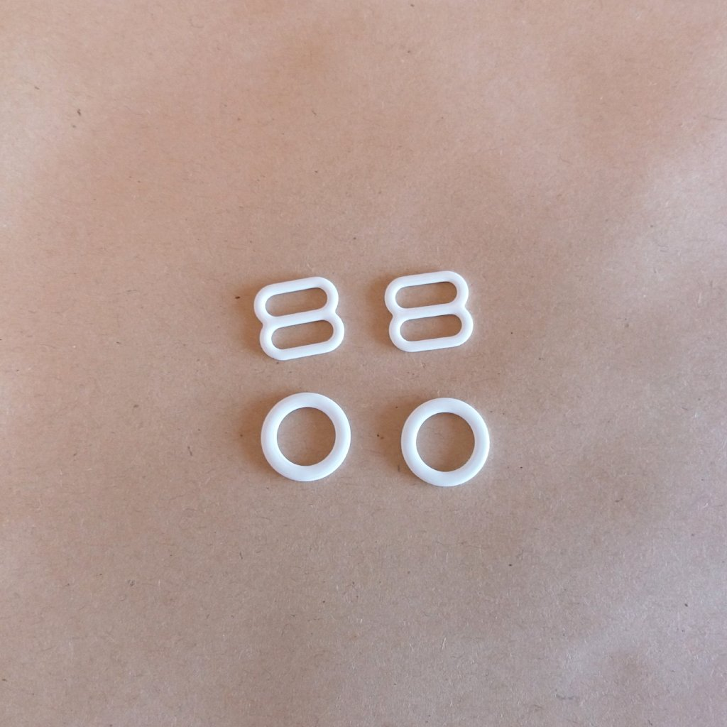 Rings & Sliders - White / Branco (10mm)