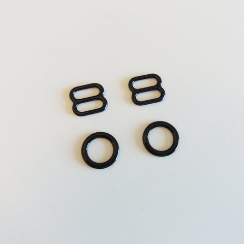Rings & Sliders - Black / Preto (10mm)