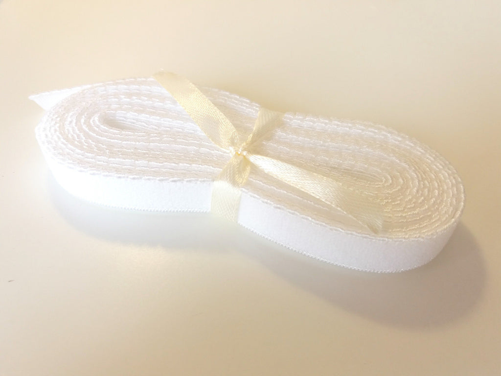 Picot elastic - Branco / White (12mm) - Suco by Susana