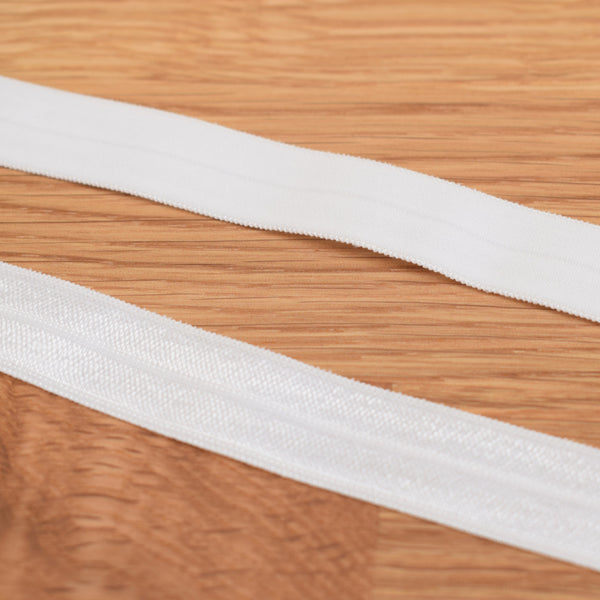 Fold over elastic - Branco / White