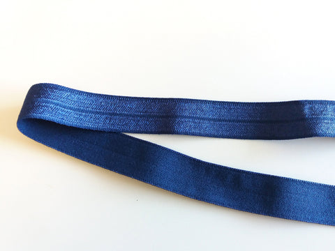 Fold over elastic - Azul forte / Dark blue