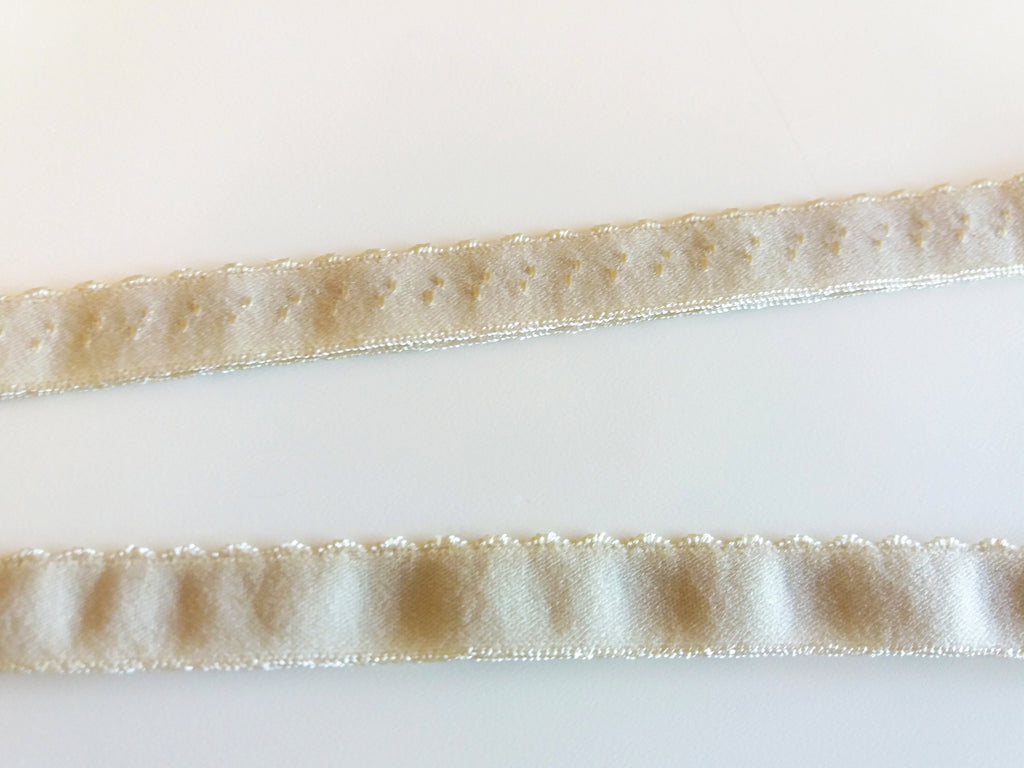 Scalloped edge Foldover elastic - Beige - Suco by Susana
