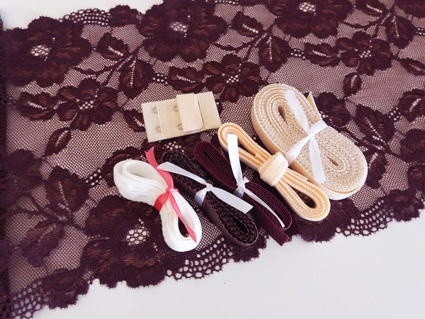 Lingerie kit - Bordeaux / Burgundy