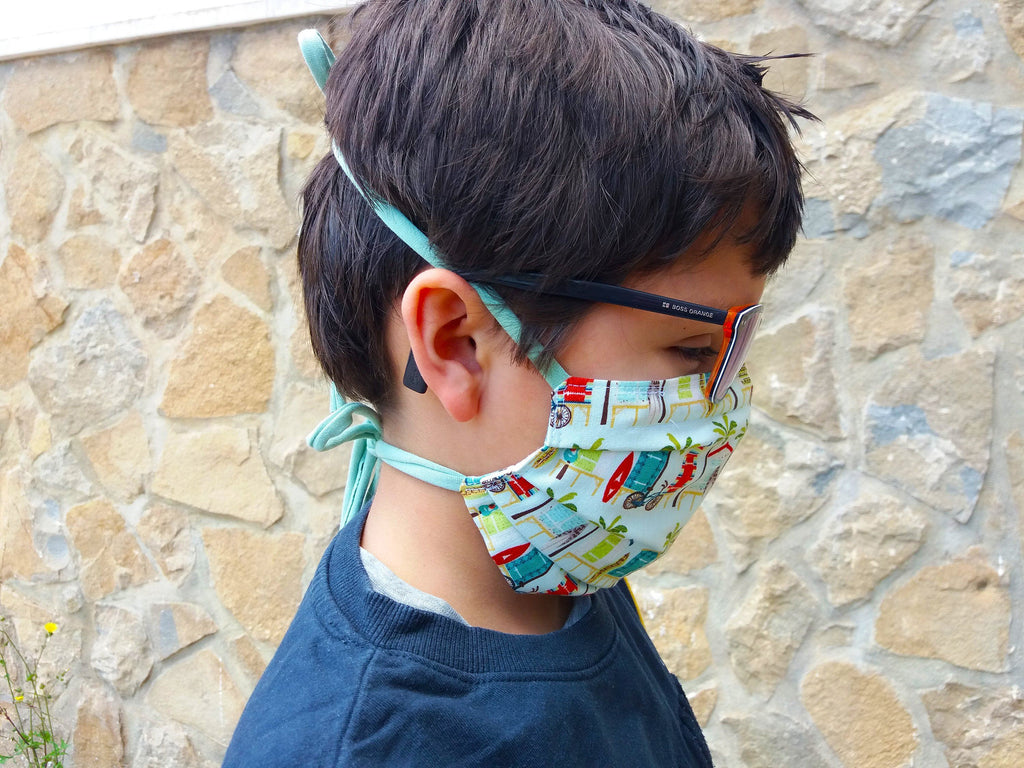 Face mask pre-teen - bicycles