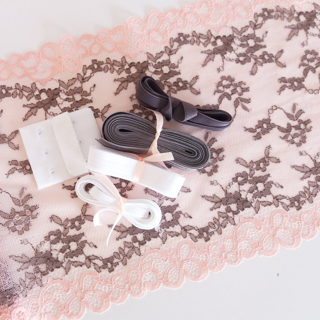 Lingerie kit - Rosa e cinzento / Pink and grey