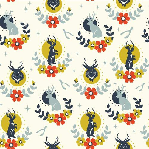 Jackalope Cream (Birch fabrics) - SUCO by Susana - 2
