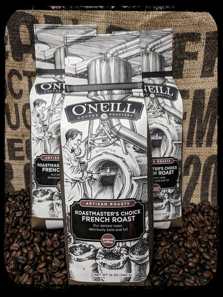 Decaffeinated Roastmaster's Choice French Roast:  Artisan Coffee by O'Neill Coffee