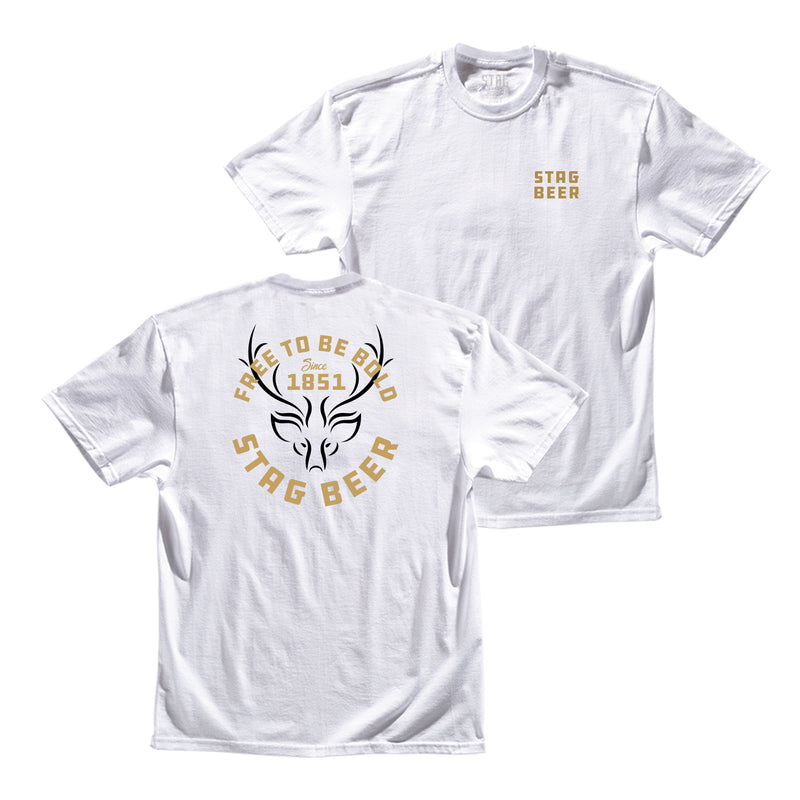 1851 Tee - White - Stag Beer