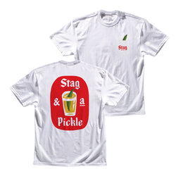 Stag & A Pickle Tee - White - Stag Beer