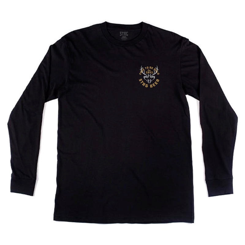 Be Bold Long Sleeve Tee - Black