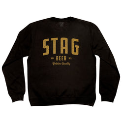 Golden Quality Crewneck Fleece - Black - Stag Beer