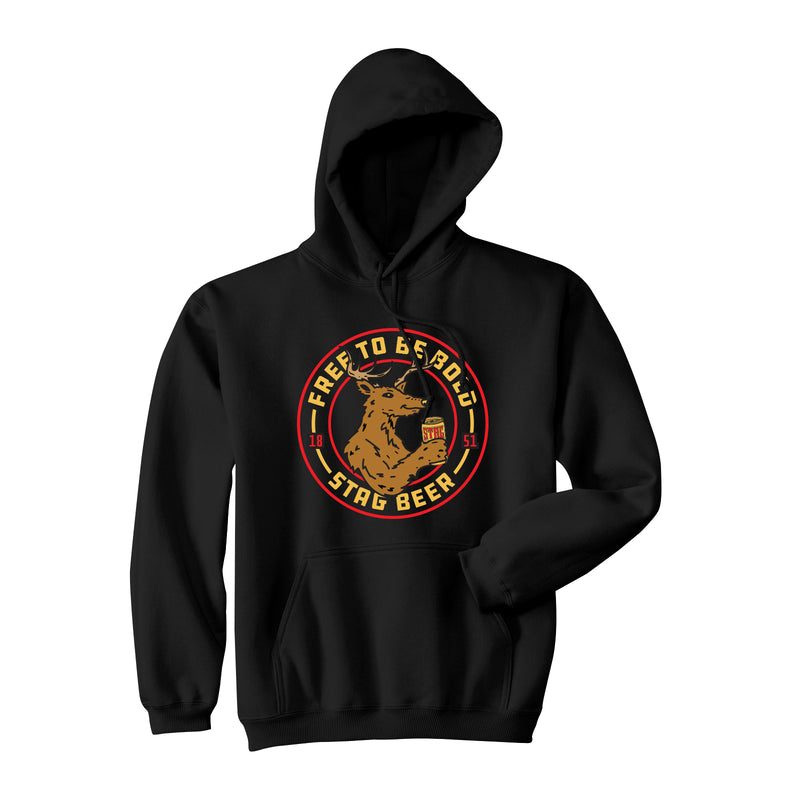 DRINK UP HOODIE - BLACK - Stag Beer