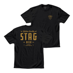 Golden Quality Tee - Black - Stag Beer