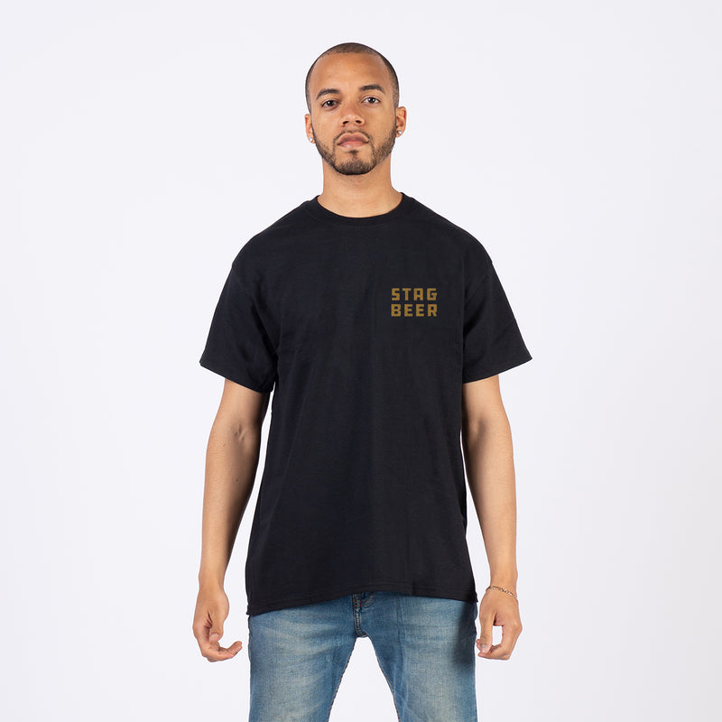 1851 Tee - Black - Stag Beer