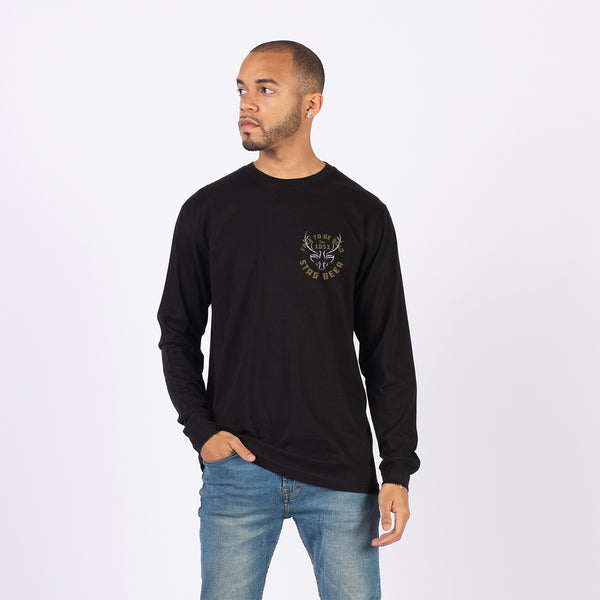 Be Bold Long Sleeve Tee - Black - Stag Beer