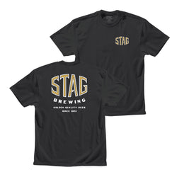 SHARP TEE - BLACK - Stag Beer