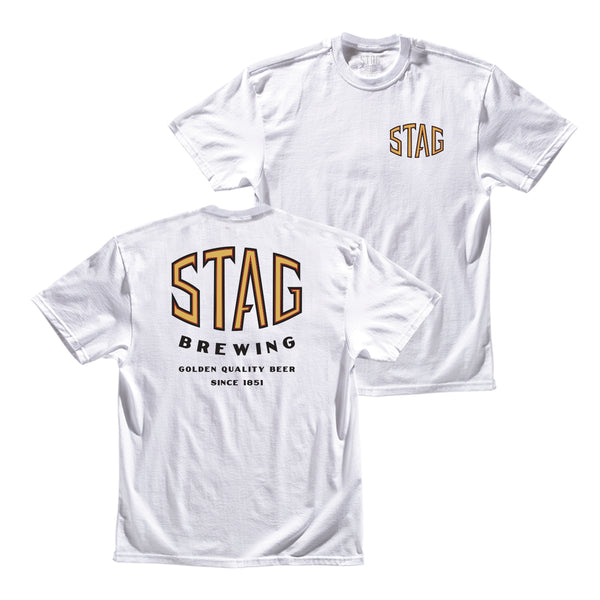 SHARP TEE - WHITE - Stag Beer