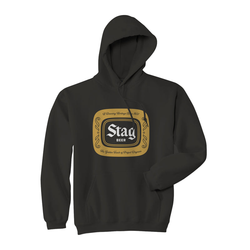 BADGE HOODIE - BLACK - Stag Beer