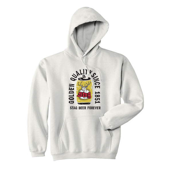 STAG FOREVER HOODIE - WHITE - Stag Beer