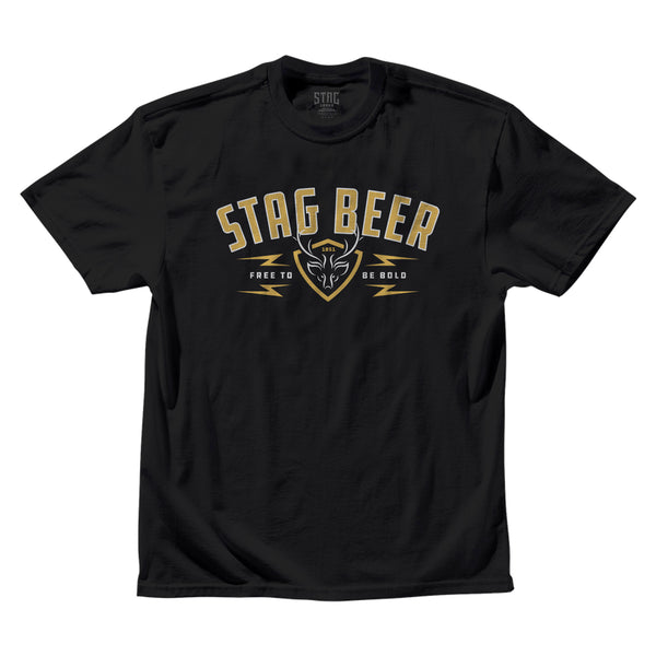FREE TO BE BOLD TEE -  BLACK - Stag Beer