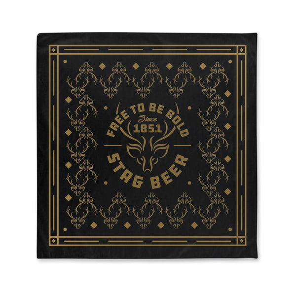 Free To Be Bold Bandana - Black - Stag Beer