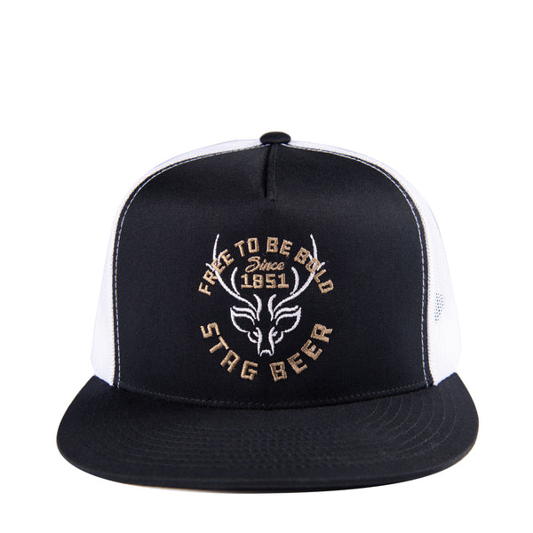 1851 Trucker Hat-Black/White - Stag Beer