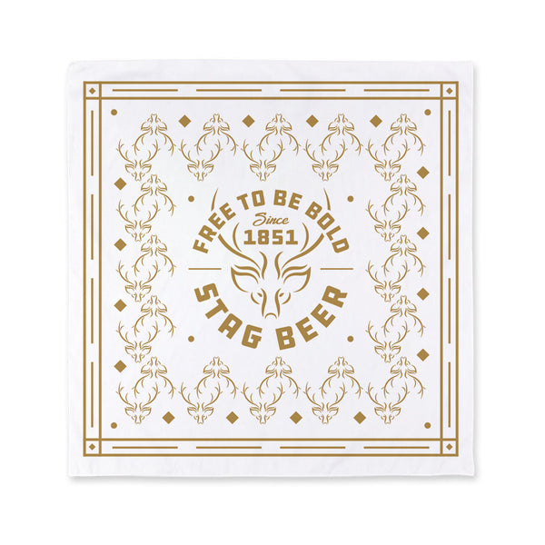 Free To Be Bold Bandana - White - Stag Beer