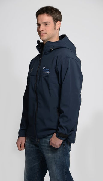Men's Hooded Coat Blue