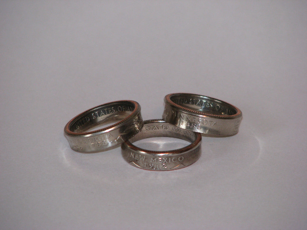 Two Sided Coin Rings