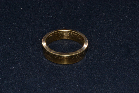 1/4 ounce gold coin ring