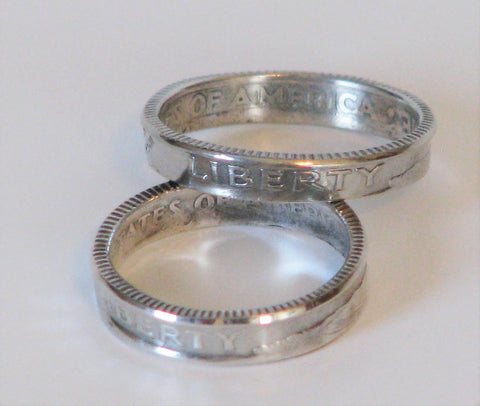 Silver Dime rings