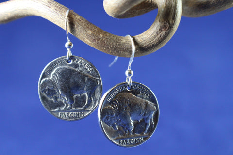 Buffalo Nickle Coin Earrings