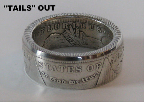 Morgan dollar ring tails out