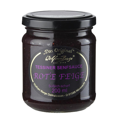 Original Tessiner Rote-Feigen-Senf-Sauce,  200 ml