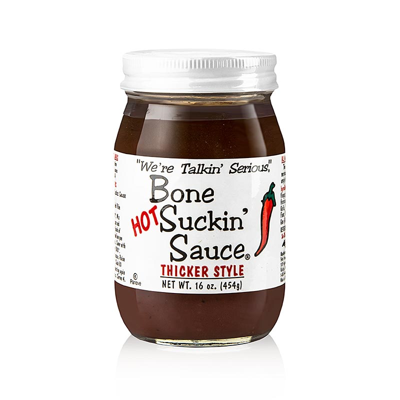 Bone Suckin´ Sauce Hot, BBQ Sauce (dickflüssig), Ford´s Food,  473 ml