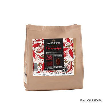 "Guanaja ""Grand Cru"", dunkle Couverture, Callets, 70% Kakao,  1 kg - Couverture, Schoko-Formen, Schoko-Produkte - Valrhona Couverture - thungourmet"