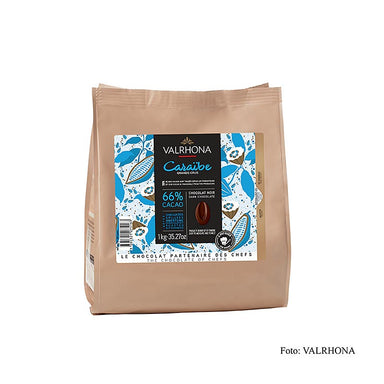 "Pur Caraibe ""Grand Cru"", dunkle Couverture, Callets, 66% Kakao,  1 kg - thungourmet"