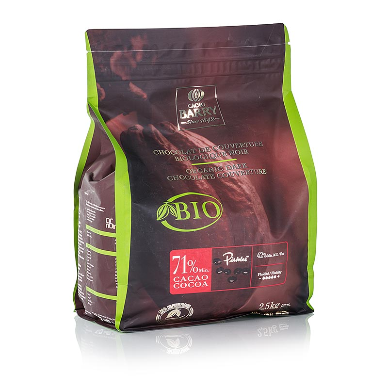 Cacao Barry, Couverture Dunkel, 71% Kakao, Callets, BIO,  2,5 kg - BIO-Sortiment - BIO Patisserie - thungourmet
