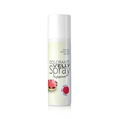 Kakaobutter Spray, Velvet/Samt Effekt, rot (red), Velly,  250 ml - thungourmet