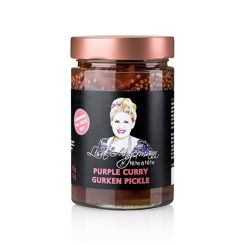 Purple Curry - Gurken Pickle, by Lisa Angermann,  280 g - Saucen, Suppen, Fonds - Pickles von Lisa Angermann - thungourmet