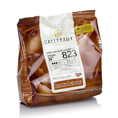 Vollmilch, Callets, 33,6% Kakao,  400 g - Couverture, Schoko-Formen, Schoko-Produkte - Callebaut Couverture - thungourmet