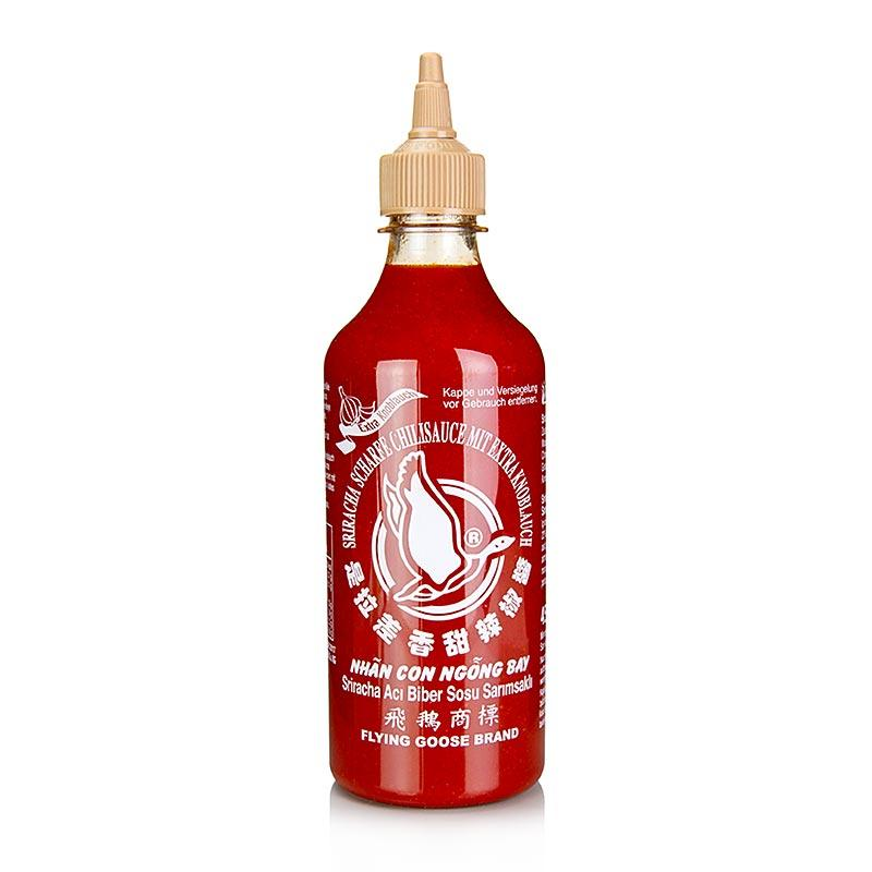 Chili-Sauce - Sriracha, mit Knoblauch, scharf, Squeeze Flasche, Flying Goose,  455 ml - thungourmet
